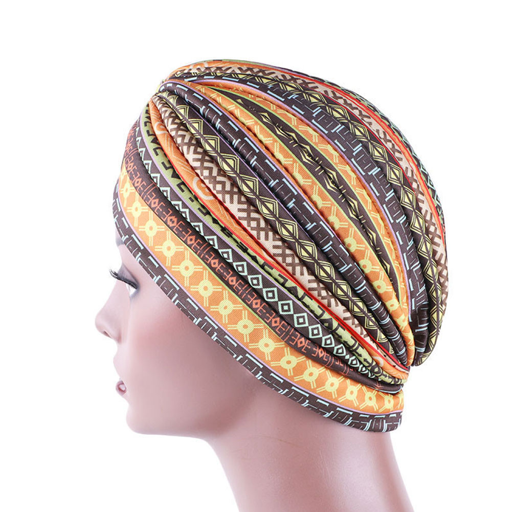India Muslim Women Cancer Hat Ethnic Style Headwrap Hat Hair Loss Head Scarf Head Wrap Cap фото