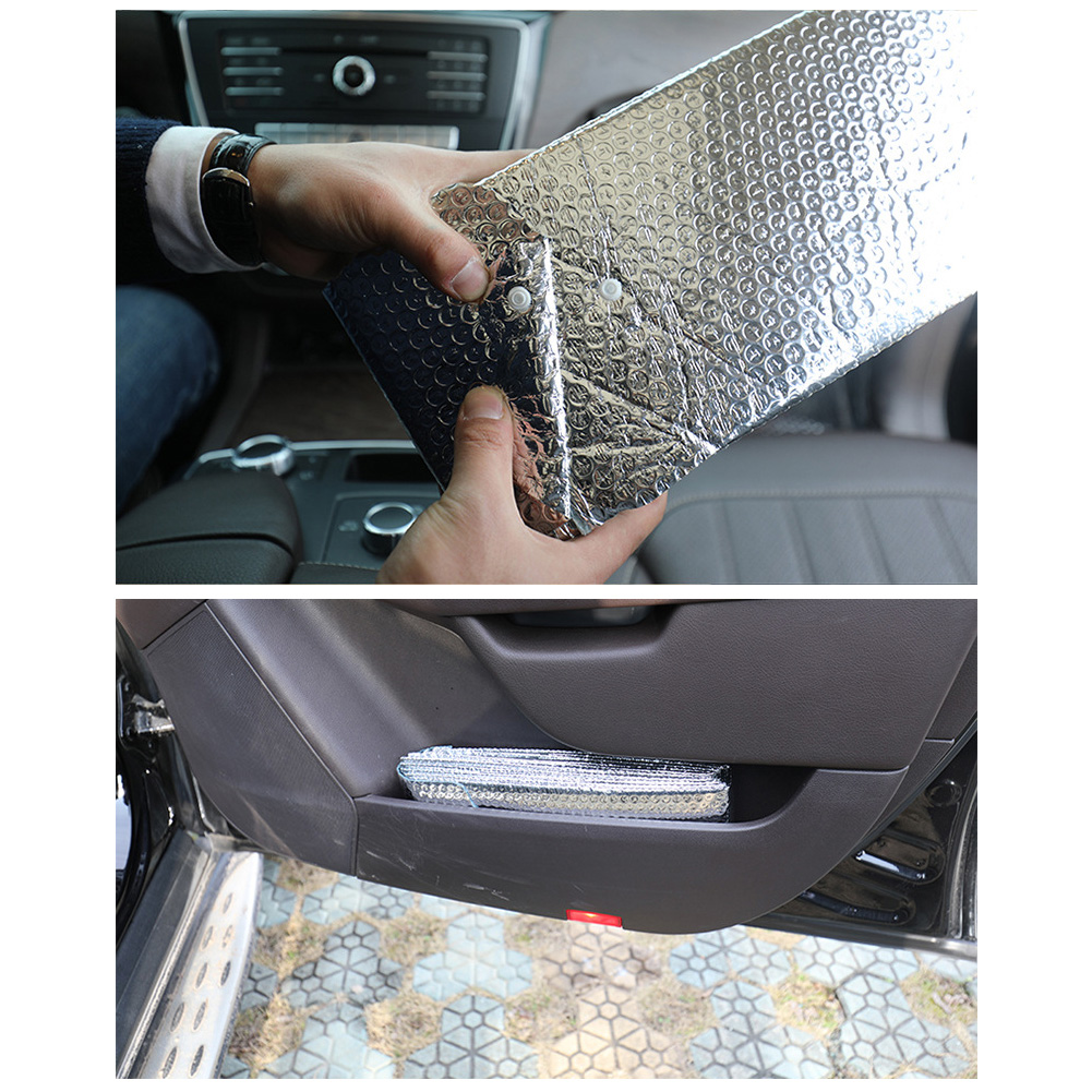 Car Windshield Sunshade Aluminum Foil Insulation Bubble Auto Front Window Heat Shield Cover Foldabler Fits For Various Sizes фото