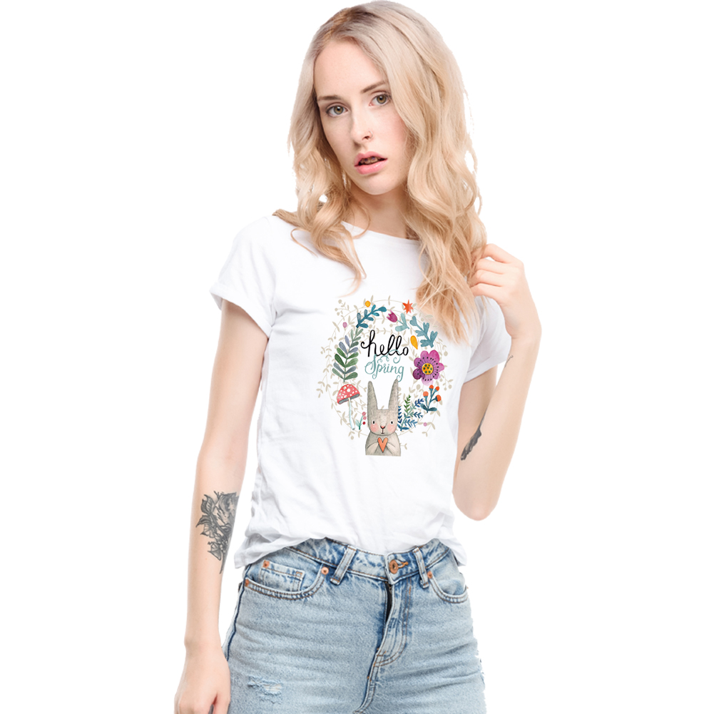 Fashion Floral Heat Transfer Sticker Printing Patch for T-Shirts Shirts DIY Canvas Bag Clothes Patches Heat Transfer Vinyl фото