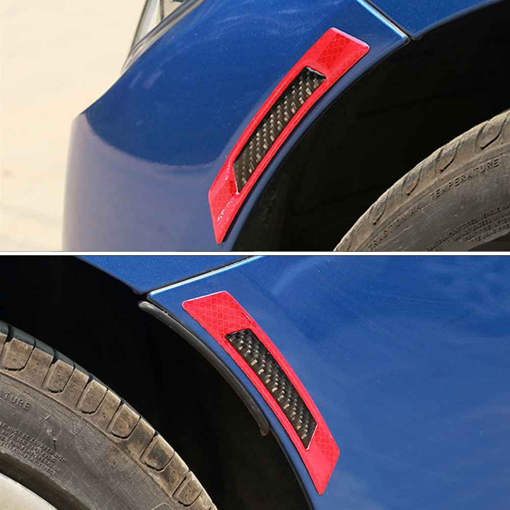 2Pcs Reflective Car Door Edge Guard Sticker Tape Decal Safety Warning Accessories фото