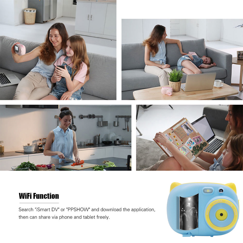 Child camera Instant Photo Printing Camera With 3-volume thermal camera paper Children's drawing camera