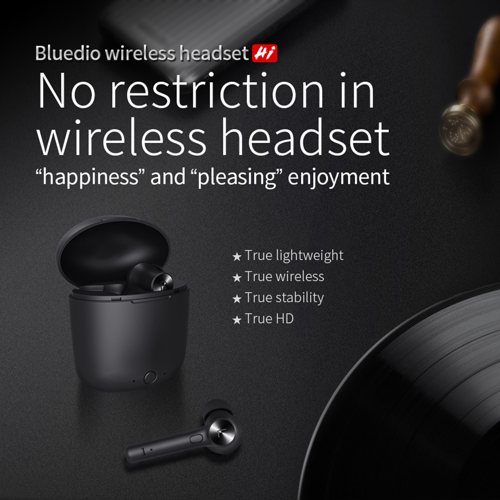 Wireless Bluetooth Earphone For Phone Stereo Sport Earbuds Headset With Charging Box Built-in Microphone