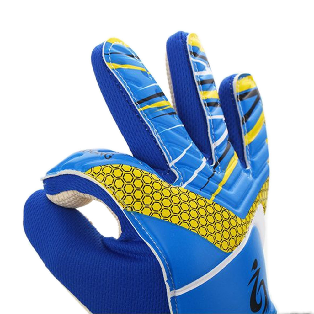 Professional Kid Students Goalie Gloves Hand Palm Natural Latex Goalkeeper Mittens фото