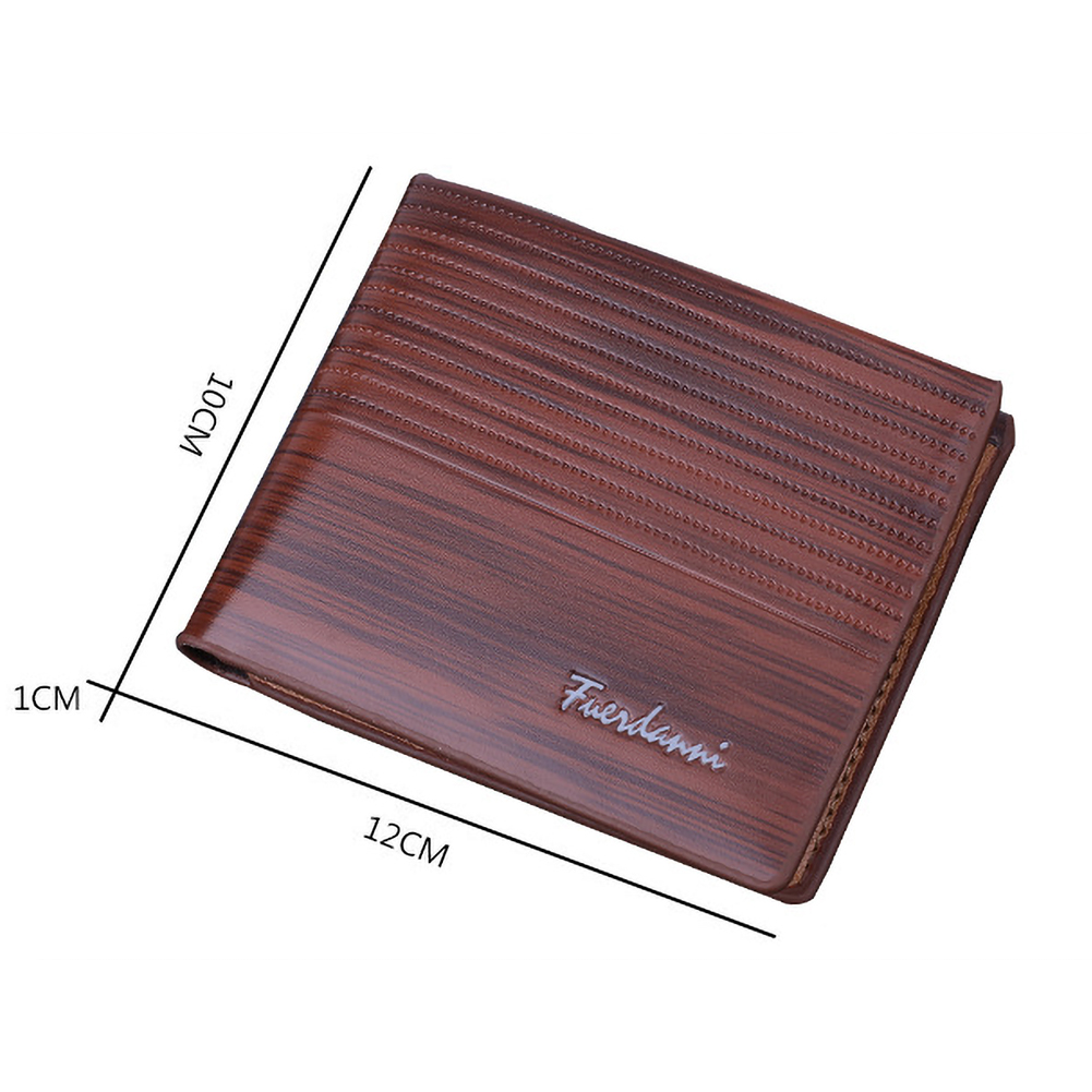 Short Luxury Male Purses Vintage Men Leather Wallet Money Clip Credit Card Bag фото