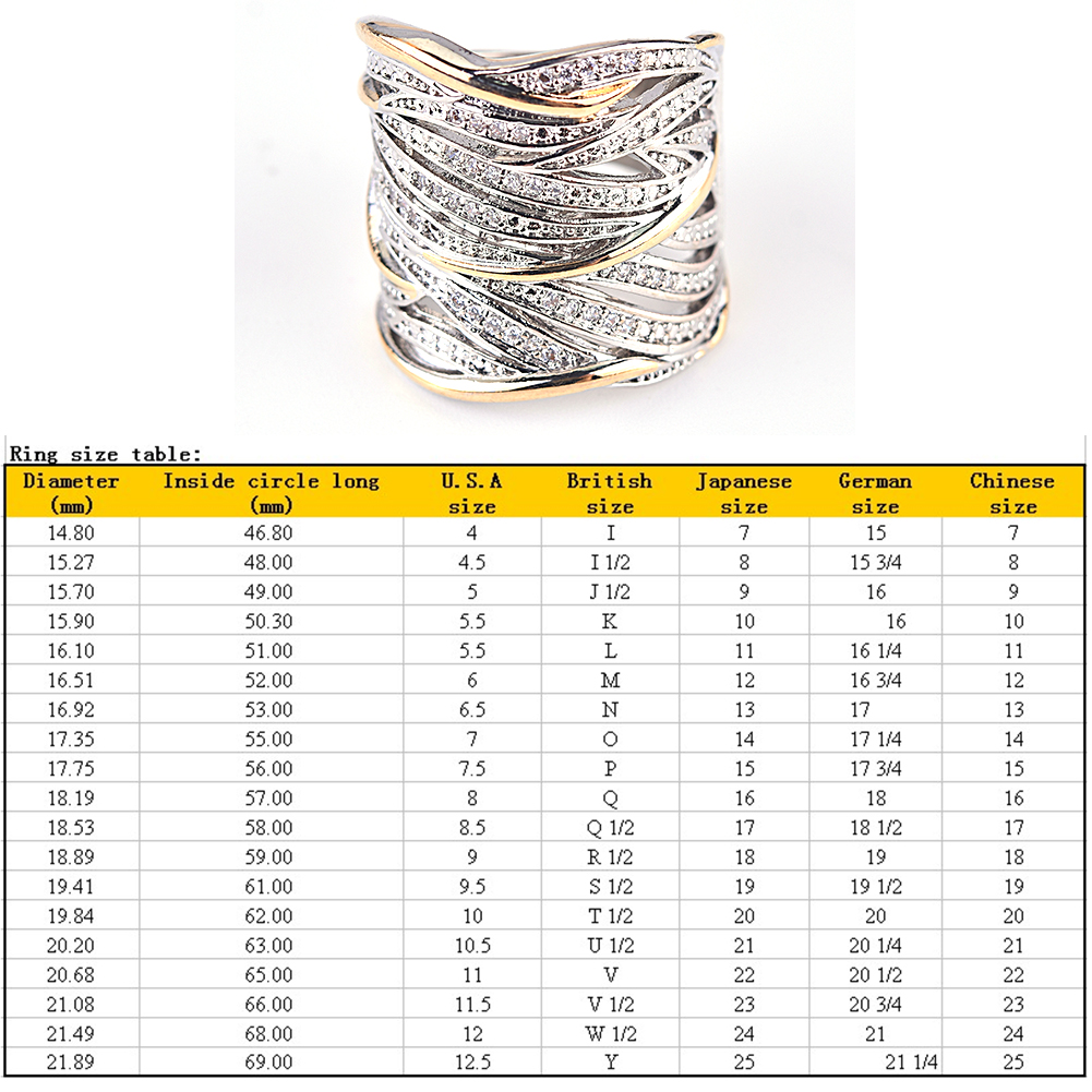 Vintage Multi-row Zircon Ring Filled High Street Style Rings For Women Fashion Jewelry Gift фото