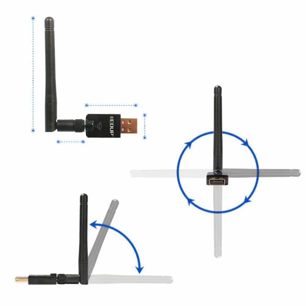 Wireless WIFI network card 600Mbps 2.4GHz & 5GHz Dual Band Wireless Wifi USB 2.0 Ethernet Adapter Network Card