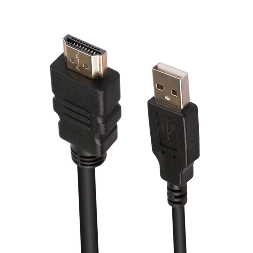 Waterproof USB2.0 HDMI Male to Female Extension Cable for Car Moto Boat 1 Meter Length фото
