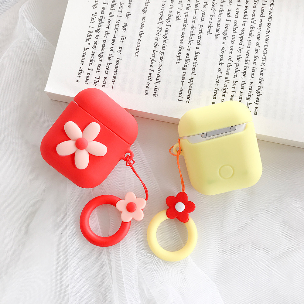 Cute Cartoon Flower Soft Silicone Case For Apple Airpods Case Wireless Bluetooth Earphone Case фото