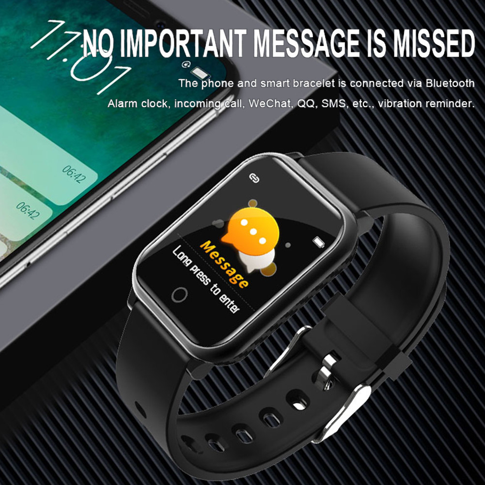 A9 Color Screen Smart Watch All-day HR Blood Pressure Monitor Music Control Sport Reminder Fitness Band