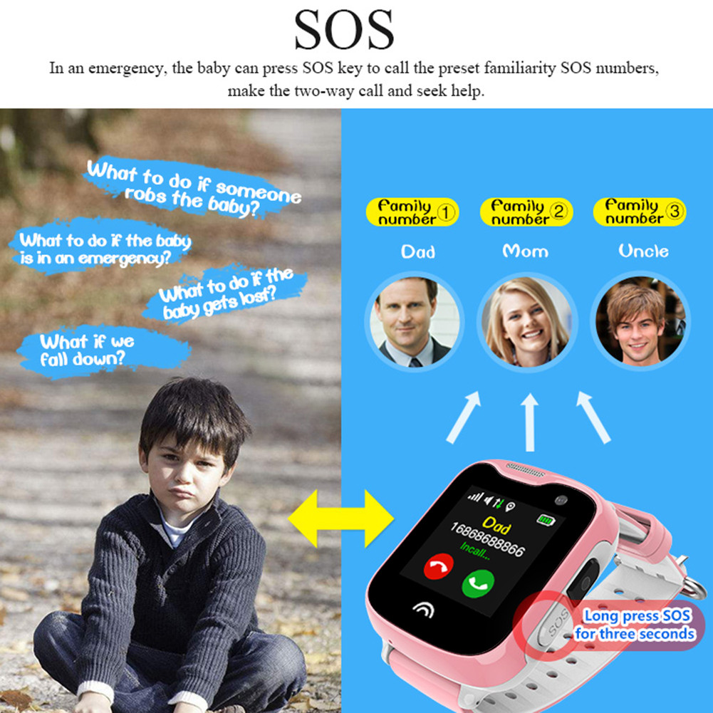 Smart Waterproof D7 1.33 inch Screen Smart Watch GPRS real-time positioning monitoring Remote photographing