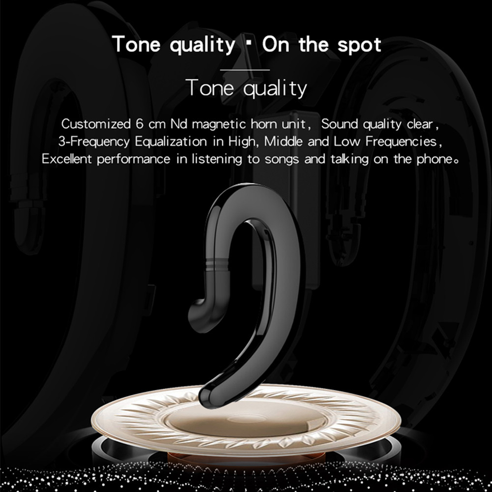 Mini Wireless Bluetooth Earphone Painless Sport Headset Business Ear Hook earpiece With Mic For ios and Android