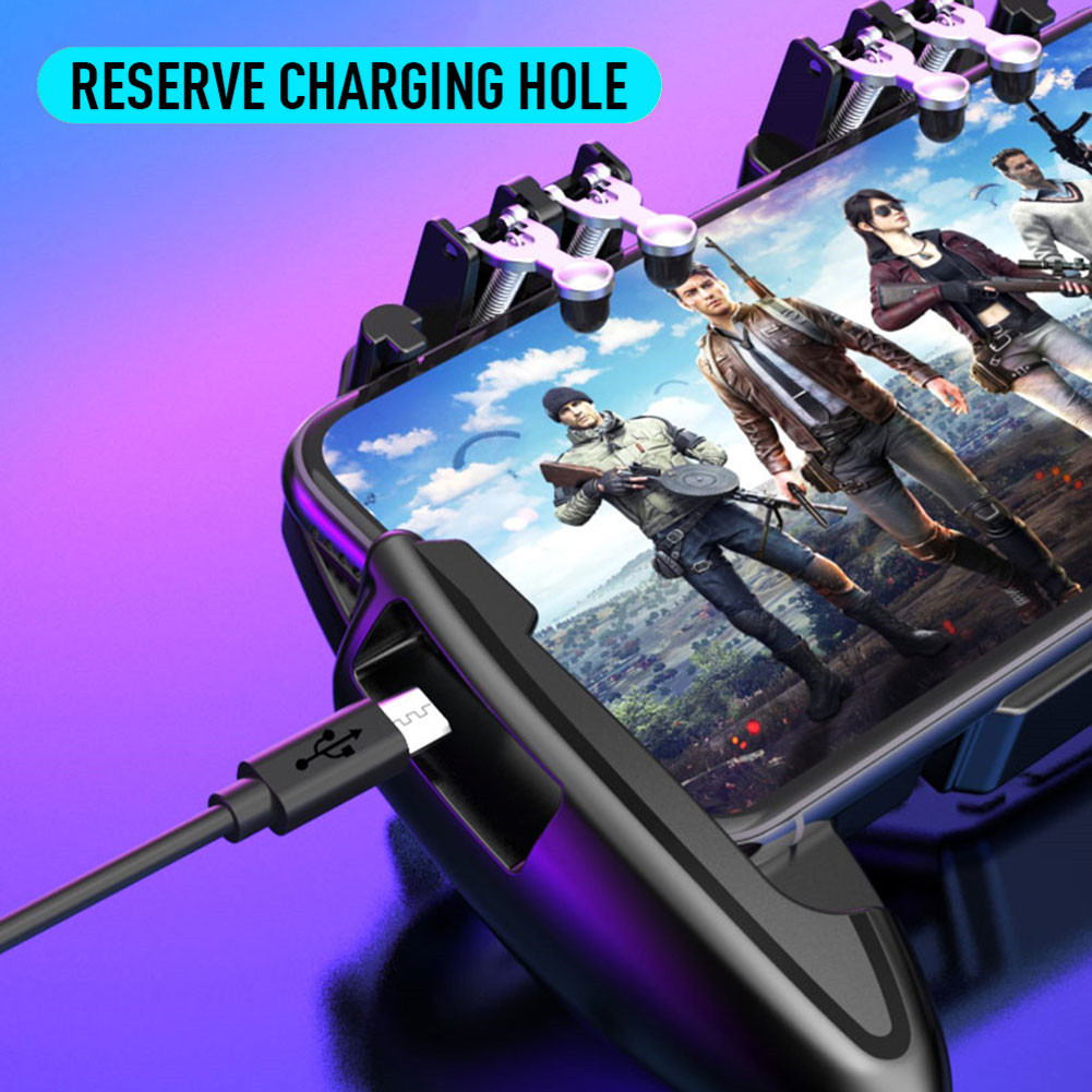Mobile Phone Game Controller Joystick Cooling Fan Gamepad for PUBG Android IOS X