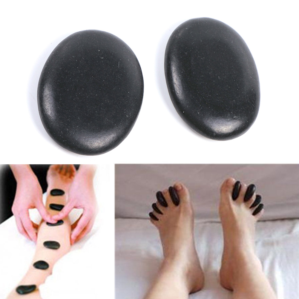Portable 7pcs/set Natural Energy Massage Stone Set Hot SPA Rocks Basalt Therapy Pain Relief фото