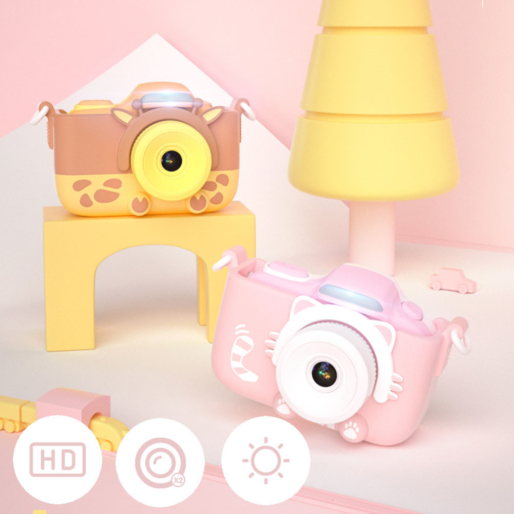 Children Anti Shake Digital Camera Portable Gifts Large Screen With Silicone Case High Definition Camcorder