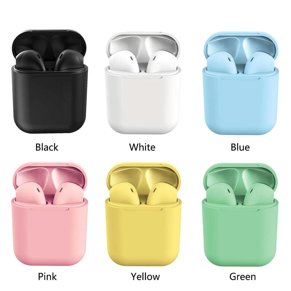 Bluetooth Earphone Wireless Earbuds Fingerprint Touch HD Stereo Wire Wireless Headphones with mic Inpods12