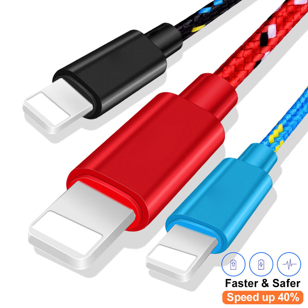 USB Date Cable 1m 2m 3m Nylon Braided Fast Charging Cable USB Charger Cord For iphone