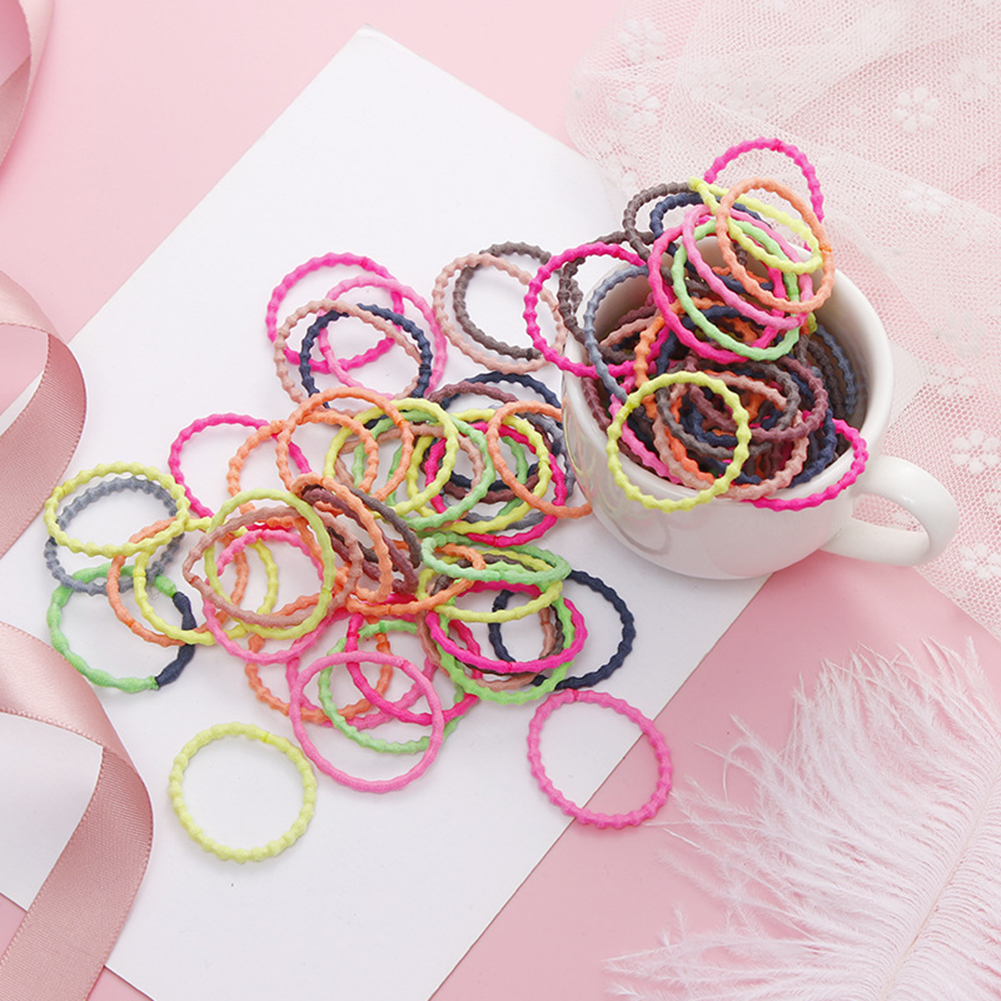 Women Girls' Elastic Hair Band 50pcs/pack 3cm Colorful Hair Ties Ropes Scrunchy Ponytail Rubberbands Tie Gum Accesorios Pelo