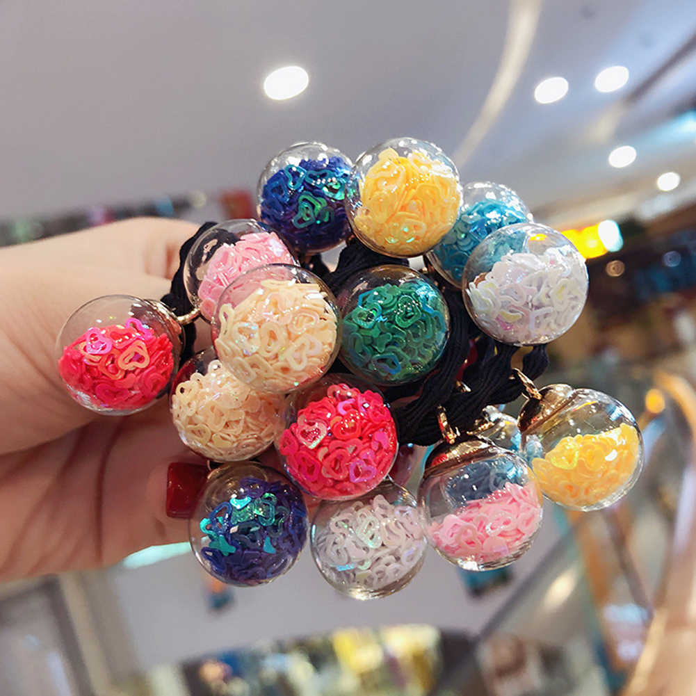 Women Girls' Elastic Ball Cute Hair Band 16pcs/pack Colorful Hair Ties Waggle Star Heart Ropes Scrunchy Ponytail Rubberbands Ring Gum Accesorios фото