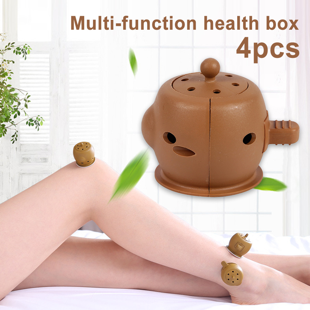 4pcs Moxibustion Box Chinese Moxa Sticks Burner Heating Acupuncture Point Therapy Gynaecopathia фото