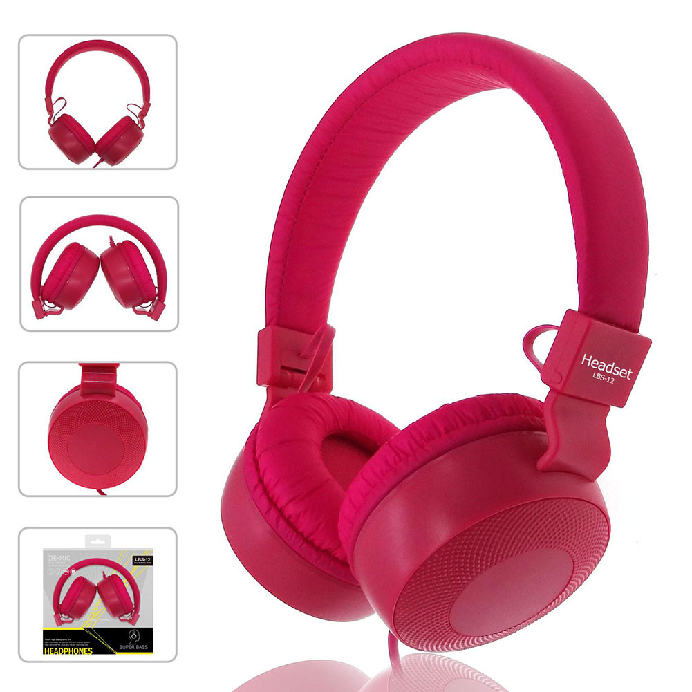 High Quality stereo bass Macaron headphones With Microphone Music Earphones Children Headsets Small Earphone as gift