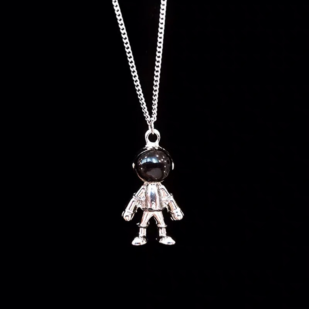Fashion Cartoon Astronaut Necklace Women Men Hip Hop Sweater Necklace Jewelry Gift фото