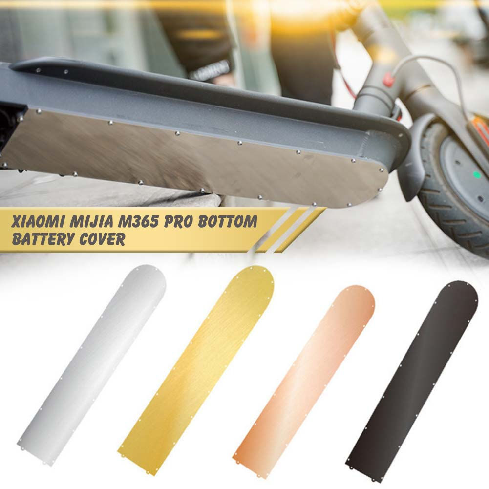 Scooter Bottom Stainless Steel Battery Cover Accessories For Xiaomi Mijia M365 Pro Anti-collision Plate Guard Chassis