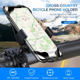 Bicycle Phone Holder For iPhone XS Max 7 Samsung Universal Motorcycle Phone Holder