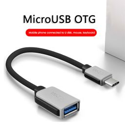 Nylon Braided USB 3.1 Type-C Male to USB Female Data Sync Cable USB OTG Adapter Data Transfer Cord Wire