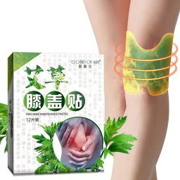12pcs/Bag New Knee Plaster Wormwood Extract Knee Joint Ache Pain Relieving Paster Knee Rheumatoid Arthritis Chinese Herbal Medical Patch