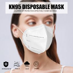 KN95 Face Mouth Mask Anti Dust Anti Haze Mask 4-Layer PM2.5 Dustproof Protective 95% Filtration KN95 Mouth Muffle Cover