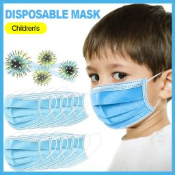 10 Pcs Disposable Mouth Mask for Kids Oral Protection 3-ply Filter Against Dustproof Cover High Filtration and Ventilation Security