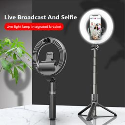 "L07 Selfie stick Portable 5""Ring light with triangle stand/tripod and phone holder"