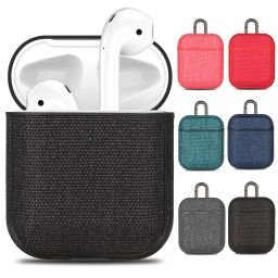 Universal Incase Canvas Headset Cover Cloth Pattern Protective Cover For Apple Airpods 1/2 Pc Leather Bluetooth Headset Shell