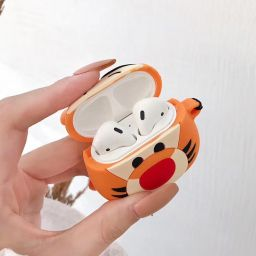 Headset Protective Case Cute Tigger For Apple Airpods Wireless Headset 1/2 Generation Protective Shell Cute
