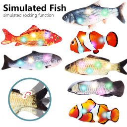 Electronic Cat Toy 3D Fish Electric USB Charging Simulation Fish Toys for Cats Pet Playing Toy Funny Cat Chewing Supplies