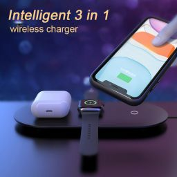 3 in 1 Wireless Charger USB Charging Pad for iPhone 11 X XS Max XR Airpods Pro Apple Watch 5 4 Charge Docking Station