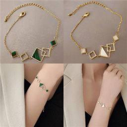 1 PC Fashion Simple Exquisite Elegant Geometric Square Bracelet Women Girls Jewelry Gift